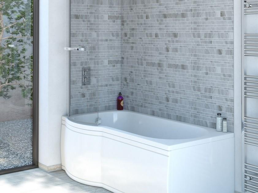 p-förmige Dusch-Badewanne