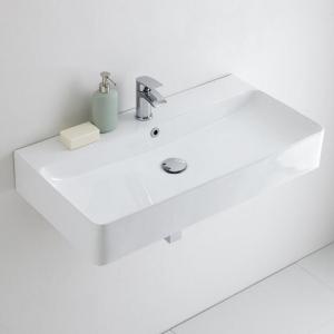 Rectangular wall hung basin for cloakrooms