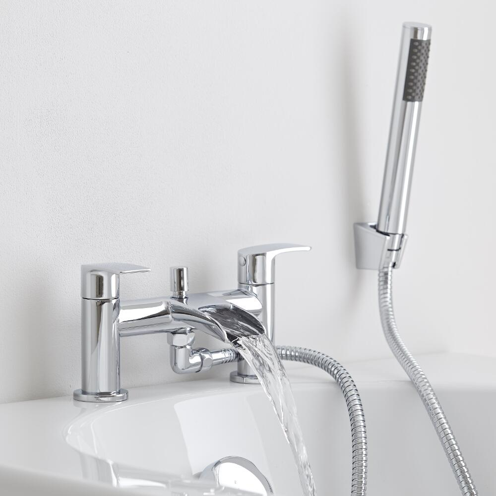 bath shower mixer tap with waterfall spout