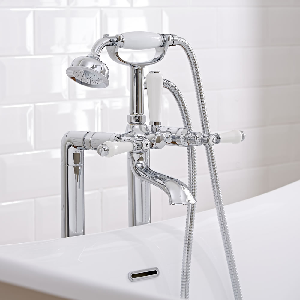 traditional freestanding bath shower mixer tap