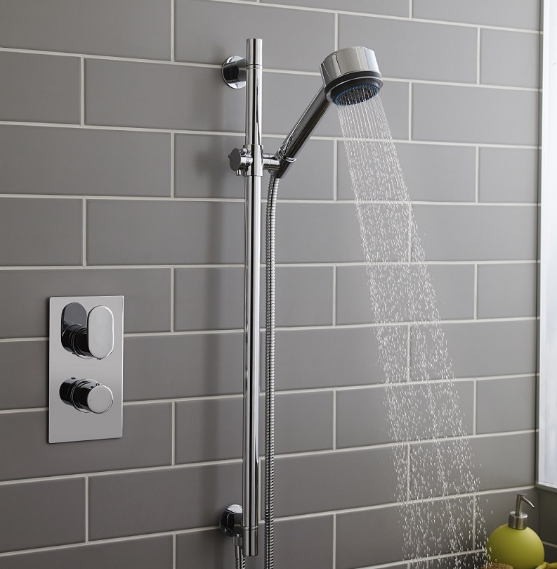 shower head with slide rail