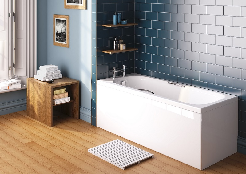 bath in modern bathroom