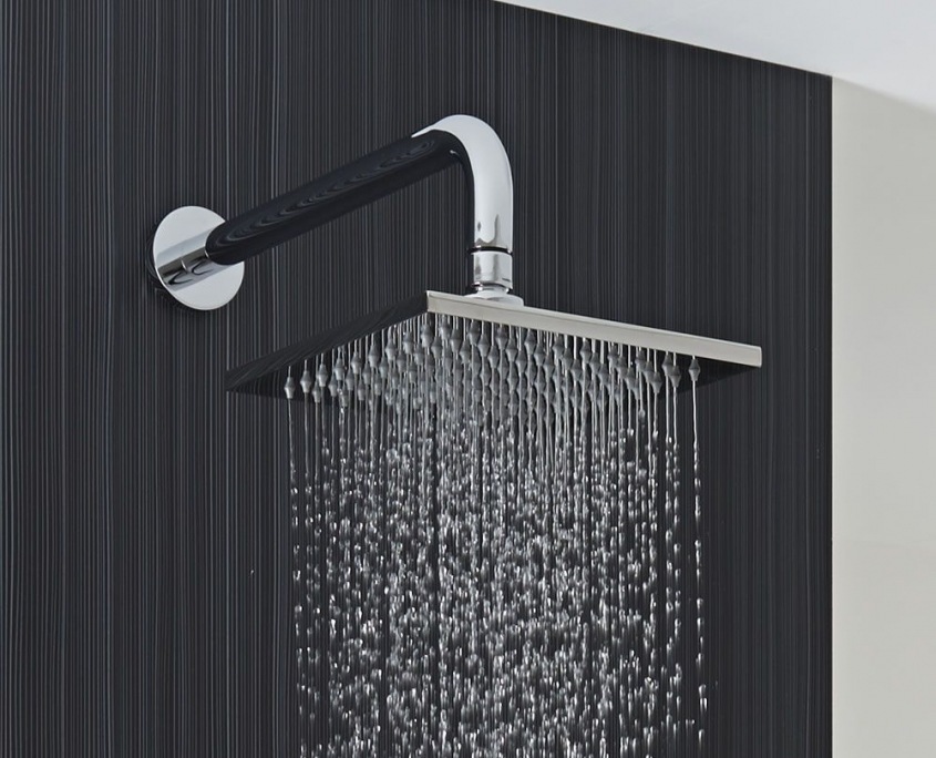 rectangular statement shower head