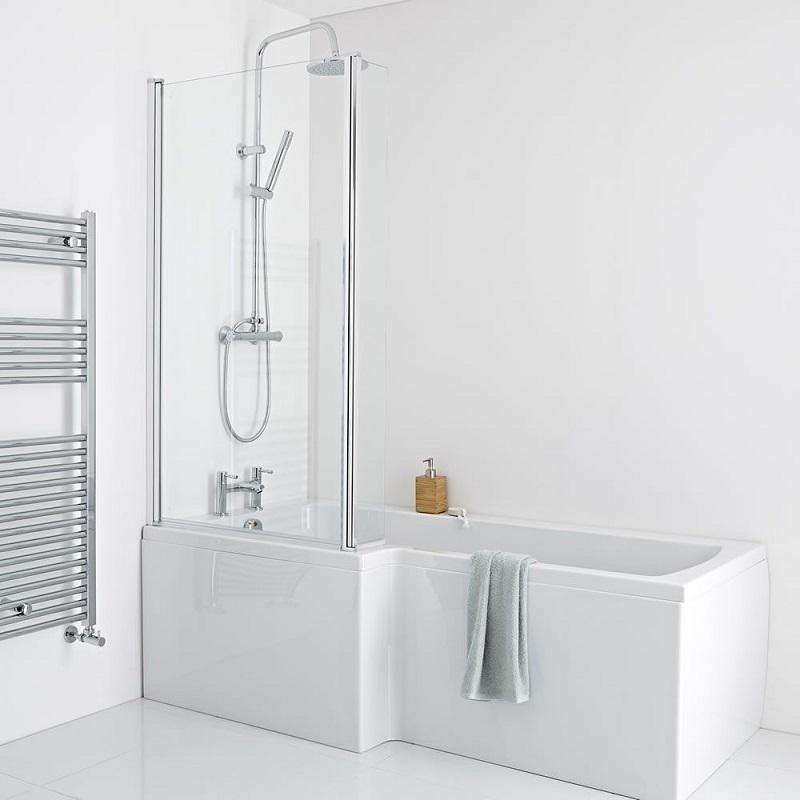 square shower bath