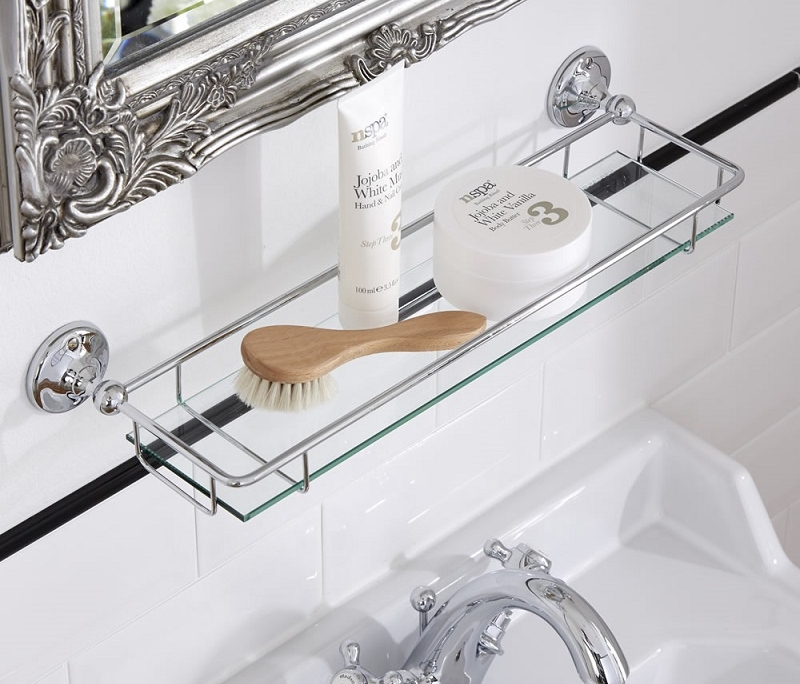 Milano Ambience glass bathroom shelf