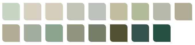 Muted Greens Dulux