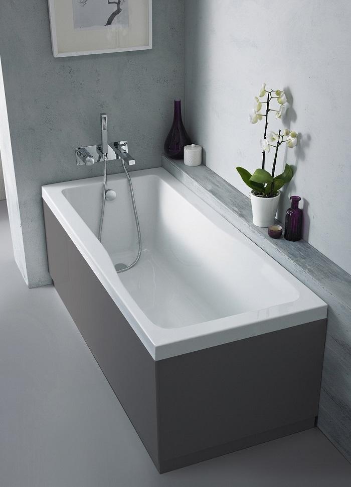 Bath With Grey Panel