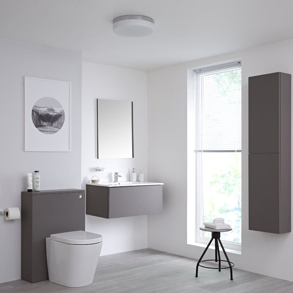On trend grey bathroom ideas bigbathroomshop - Grey black and white bathroom decor ...