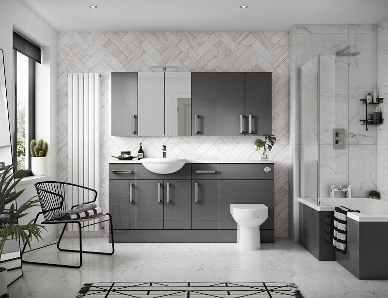 On Trend Grey Bathroom Ideas