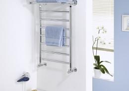 heated towel rail with shelf