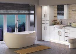 modern bathroom lighting scheme