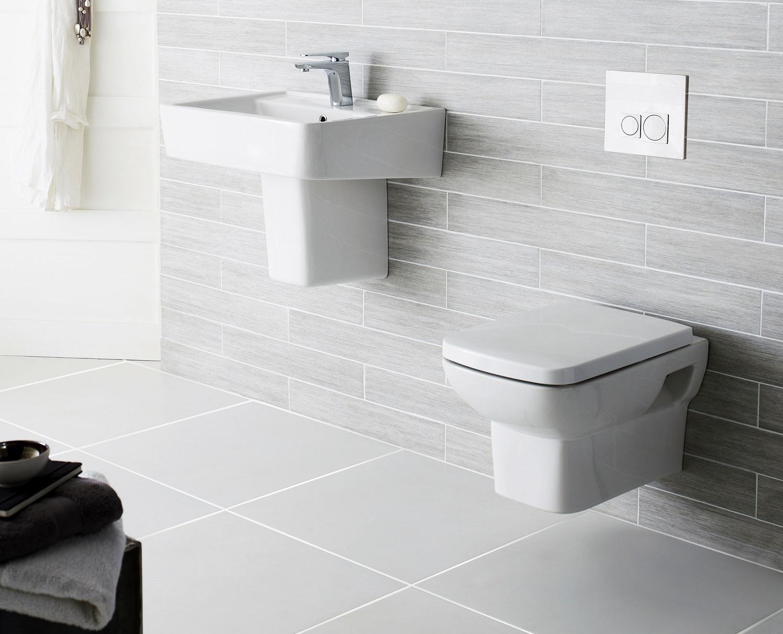 Wall Mounted Basin And Hung Toilet
