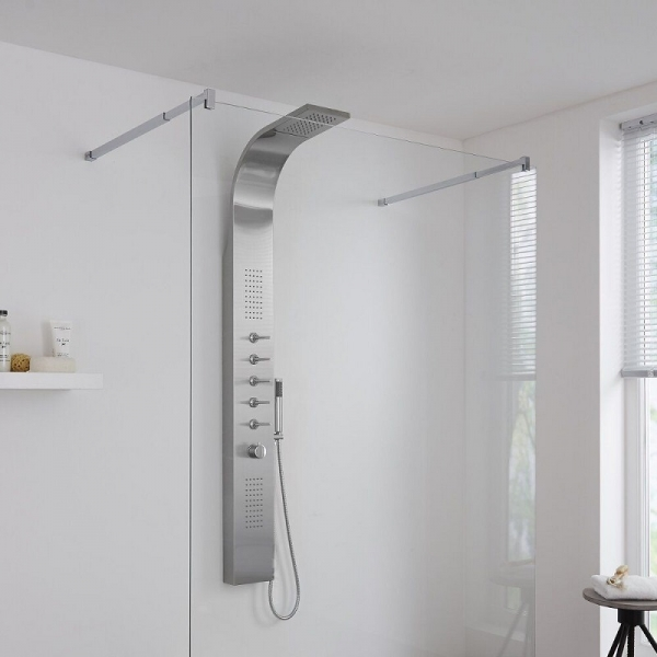 chrome shower tower