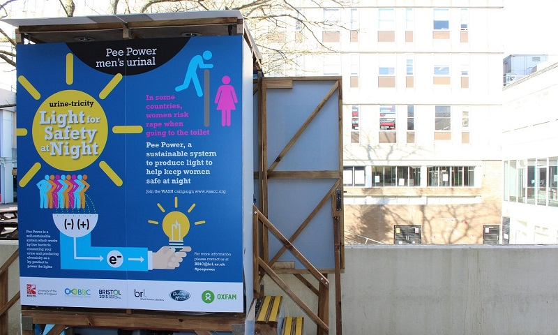 Pee power - mens urinal electric generator by oxfam