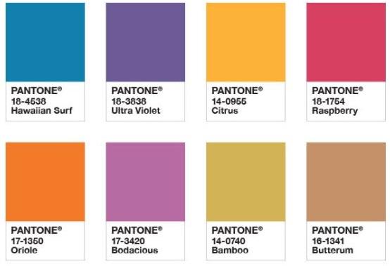 Pantone attitude colour palette