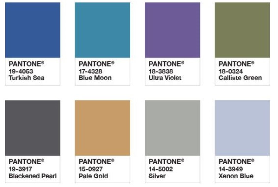 Pantone Ultra Violet Intrigue colour set