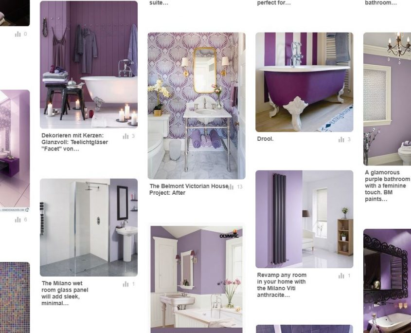 purple themed bathroom design ideas
