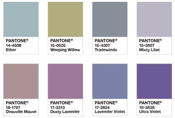 Pantone Purple Haze colour palette