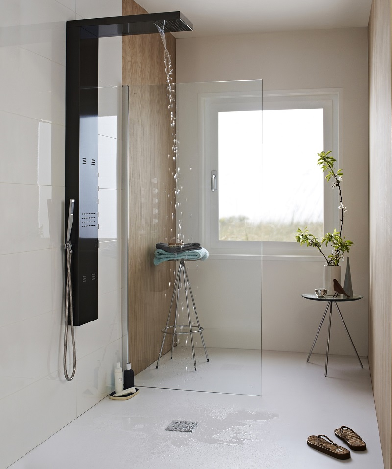 the essential guide to walk in showers and wet rooms. Black Bedroom Furniture Sets. Home Design Ideas