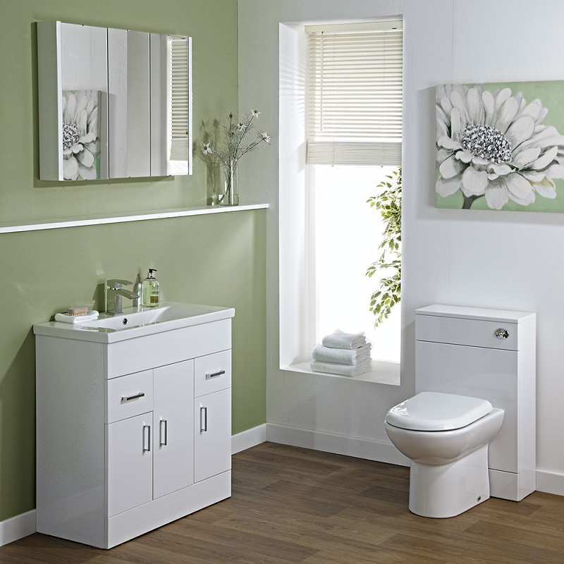 Vanity unit and toilet bathroom furniture set