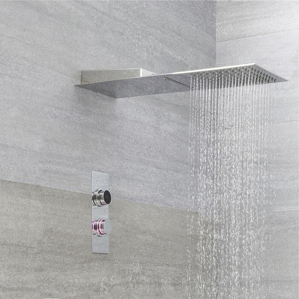 digital shower control and shower head