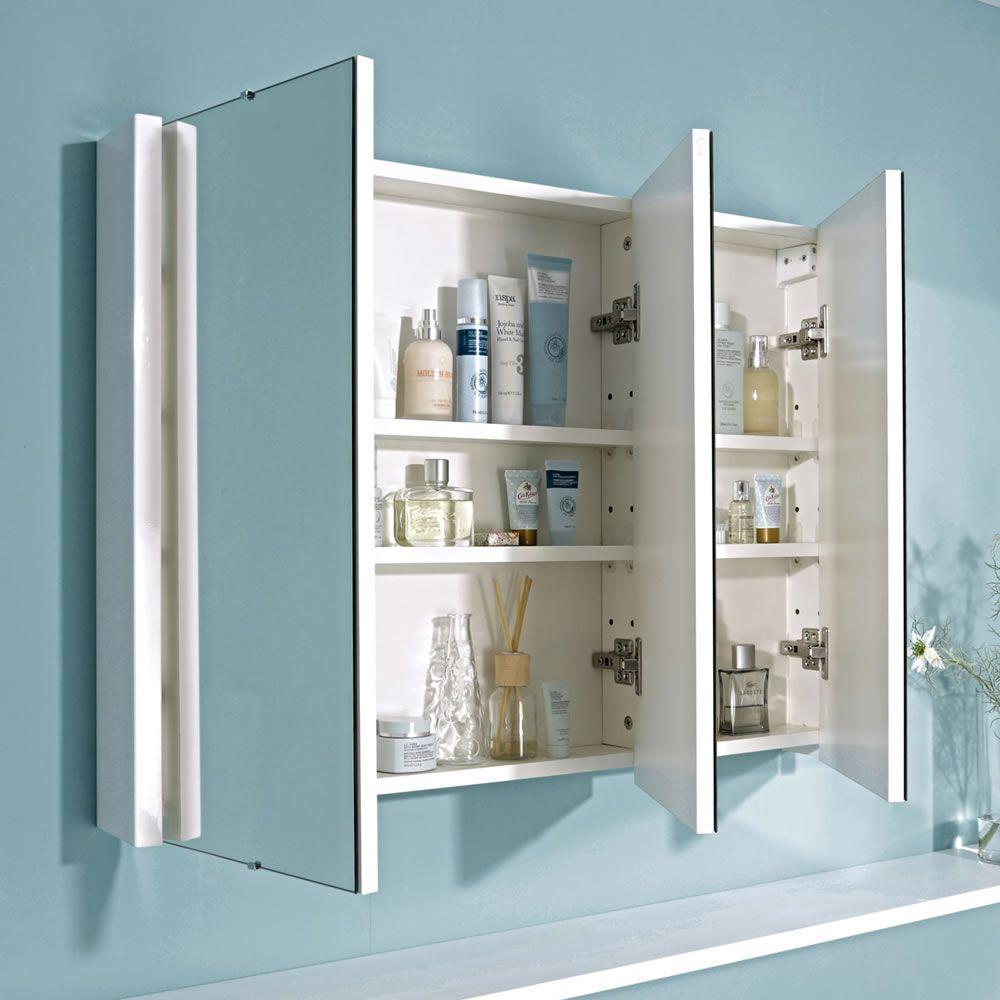 organised bathroom cabinet