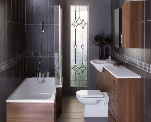 walnut bathroom cabinets