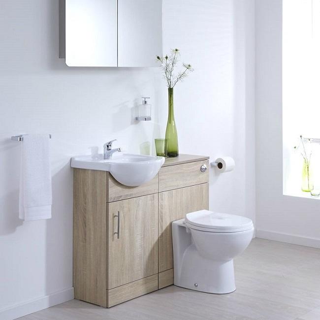 classic oak bathroom furniture set