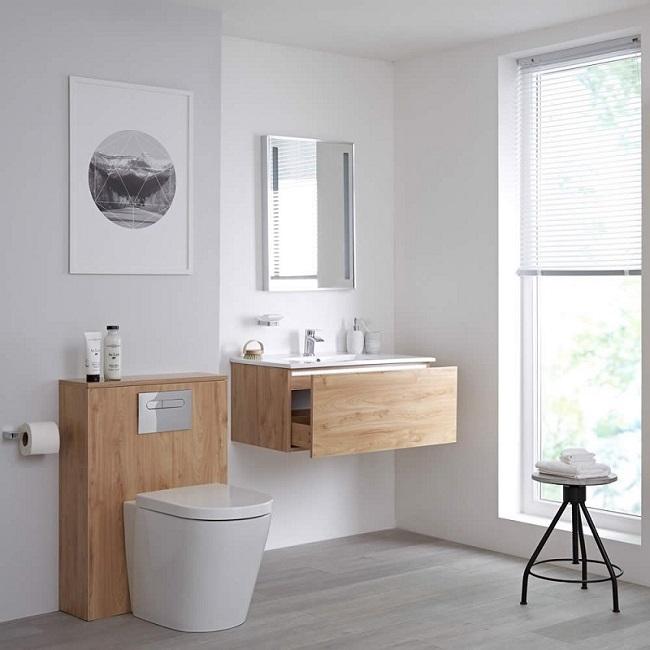 golden oak bathroom furniture