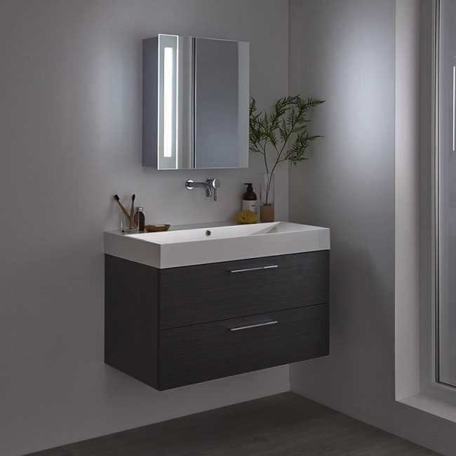 mirrored LED bathroom cabinet