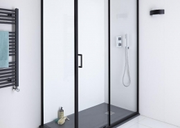 sliding shower door enclosure
