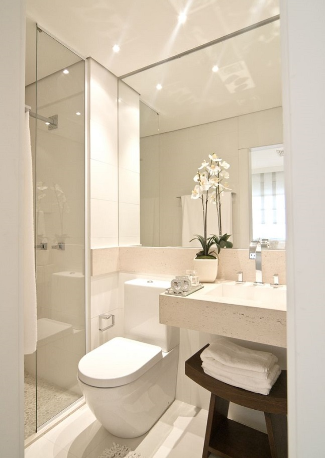 small bathroom with a spa like feel