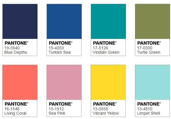 Pantone Under the Sea Colour Palette