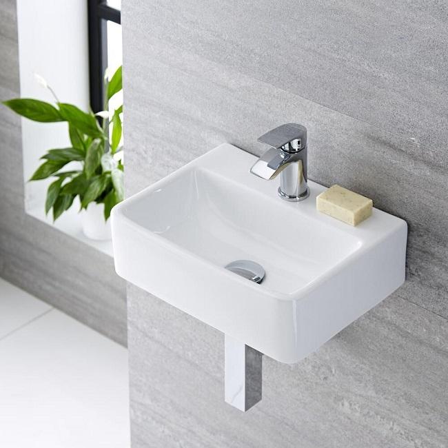 modern wall hung basin
