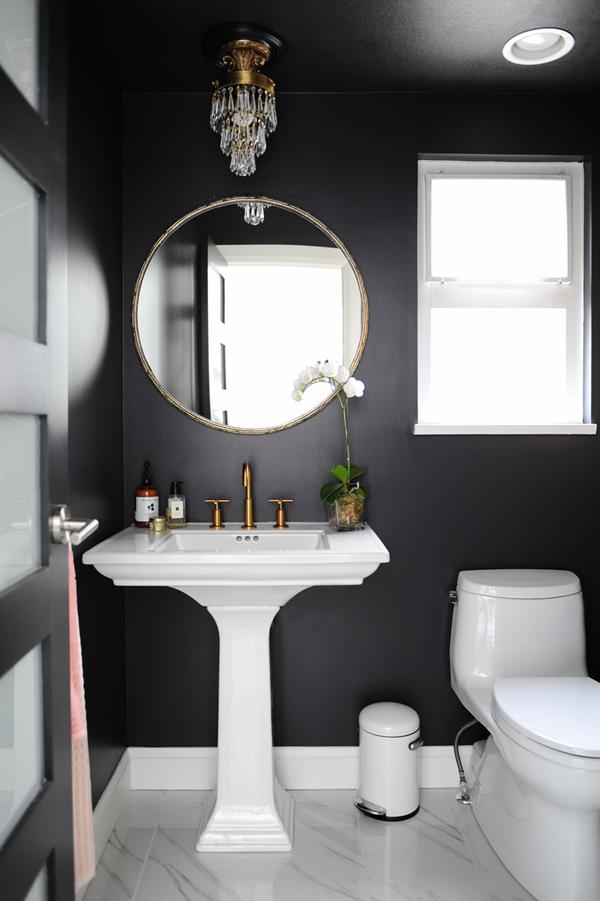 Black cloakroom bathroom