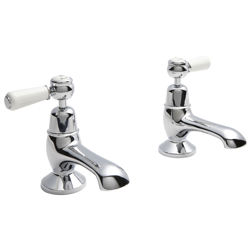 Hudson Reed Topaz Lever Bath Taps Dome Collars