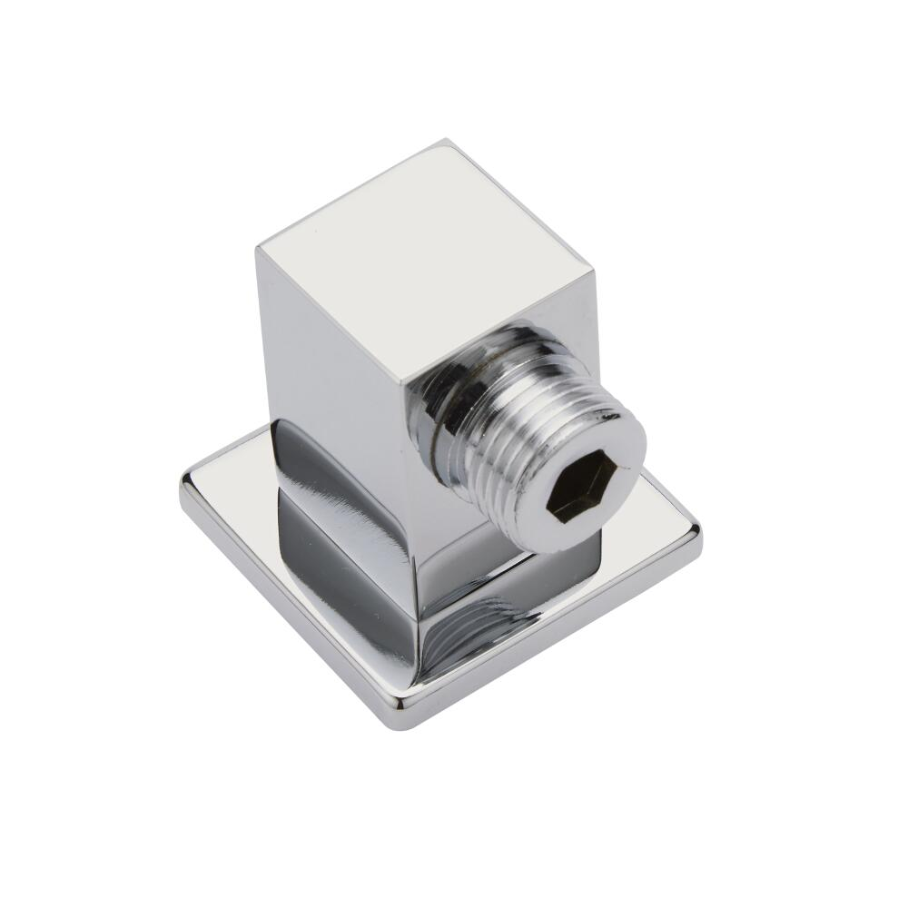 Milano Square Chrome Brass Shower Outlet Elbow