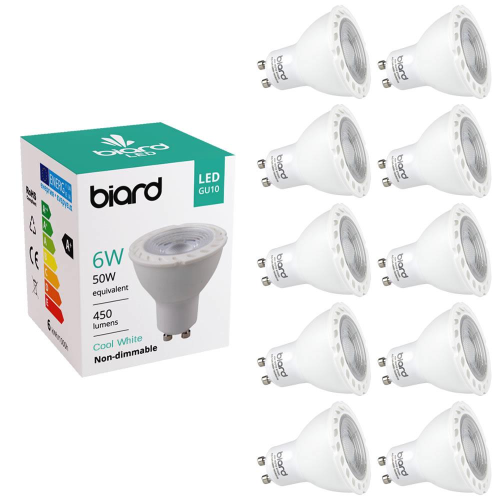 Biard Spotlight 6W GU10 LED x10
