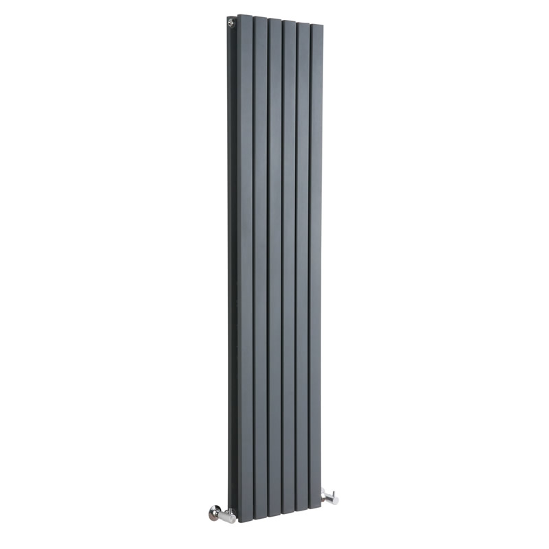 Milano Capri - Anthracite Vertical Double Flat Panel Designer Radiator 1600mm x 354mm