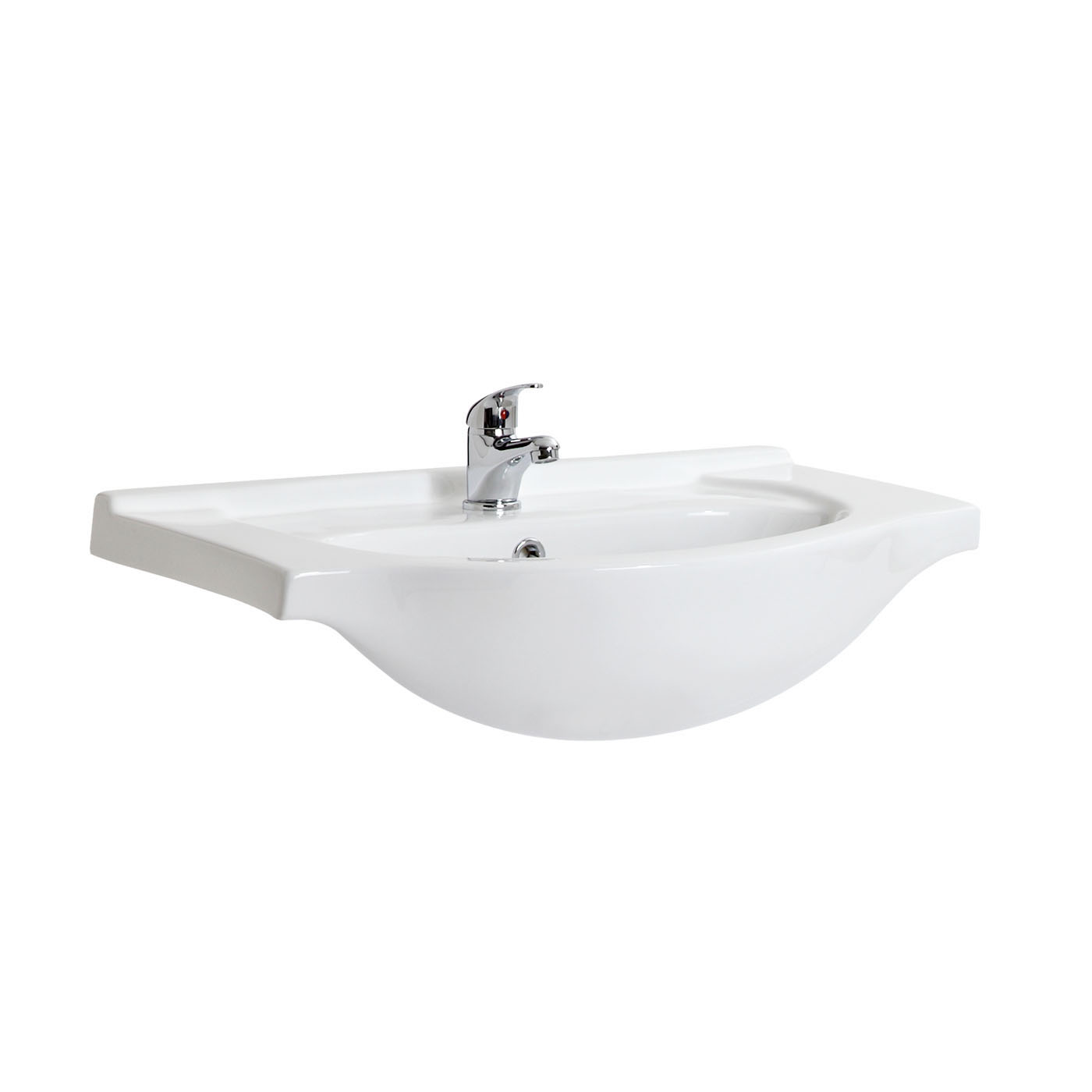 Milano 650mm Ceramic Basin Only For Classic Vanity