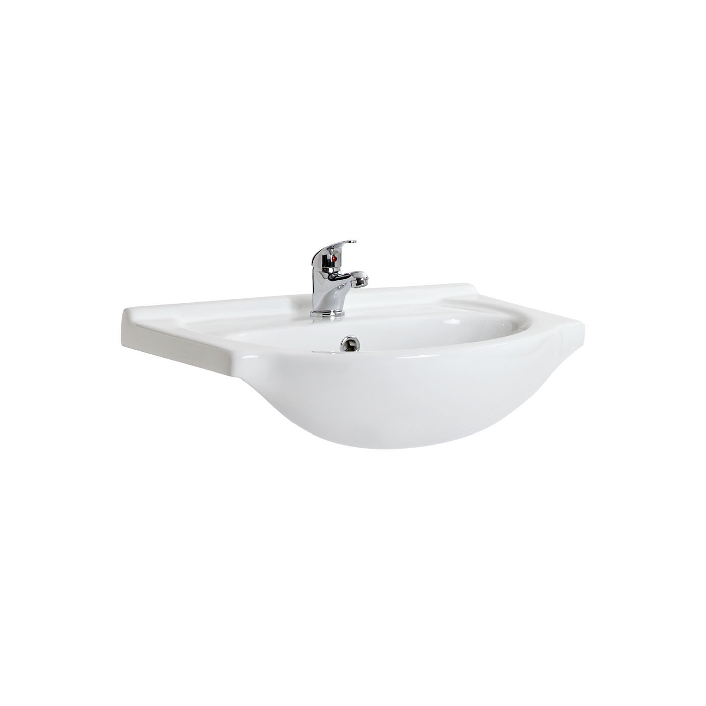 Milano 550mm Ceramic Basin Only For Classic Vanity
