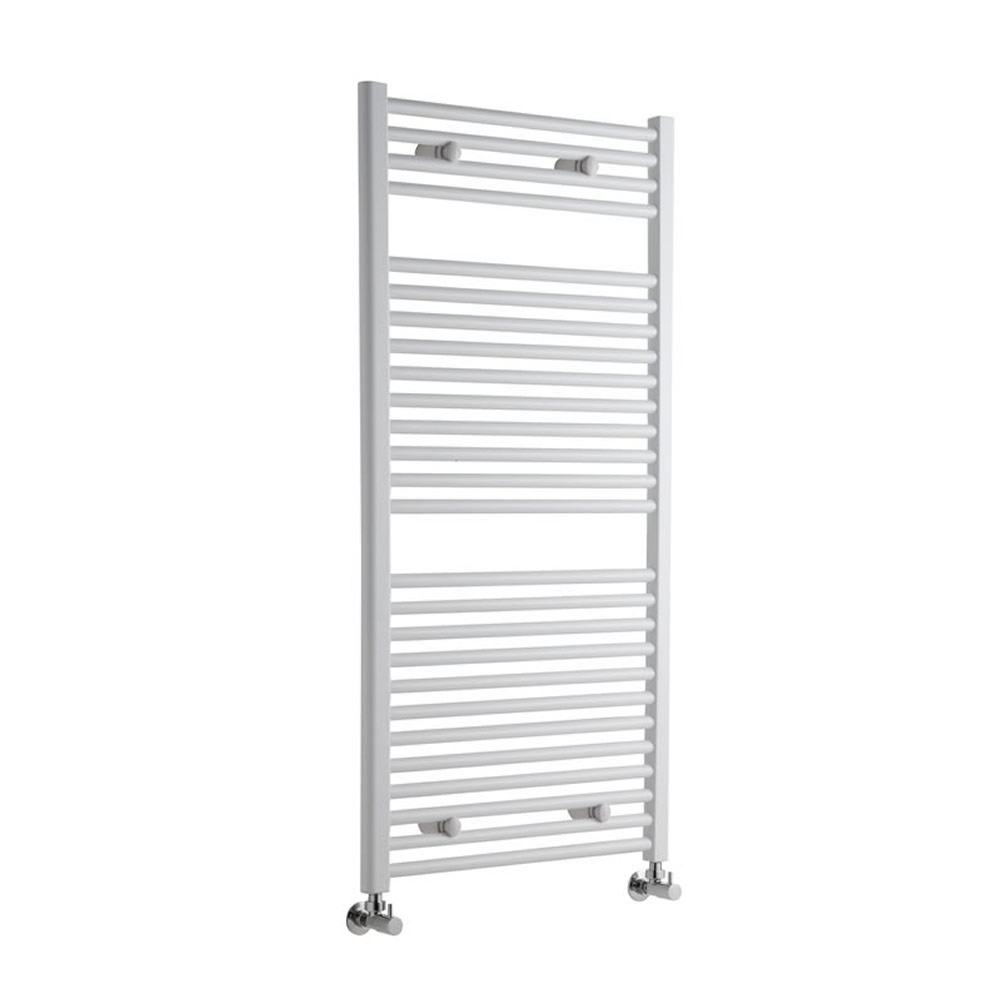 Sterling Premium White Flat Heated Towel Rail 1200mm x 600mm