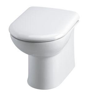 Premier Linton Back To Wall Toilet Pan & Soft Close Seat