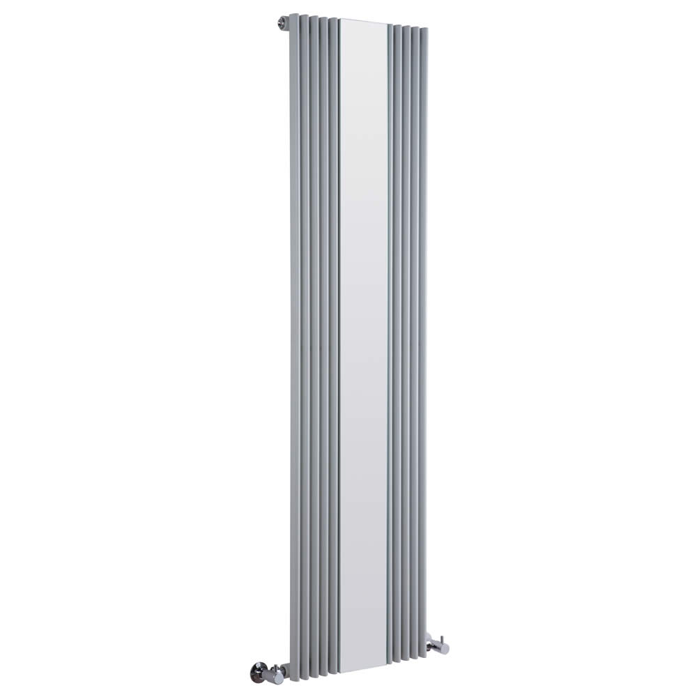 Milano Reflect - Silver Designer Radiator with Mirror 1600mm x 420mm