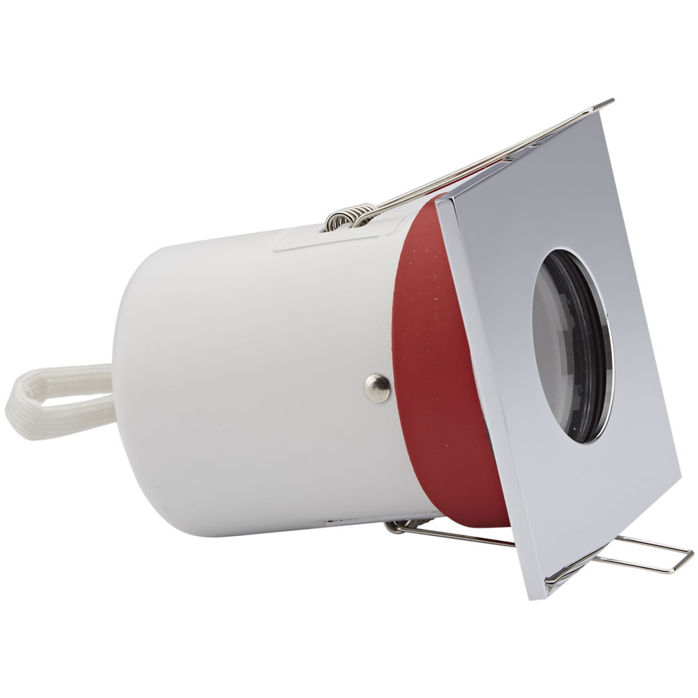 Biard Bathroom IP65 Fire Rated GU10 downlight with Changeable Square Bezel