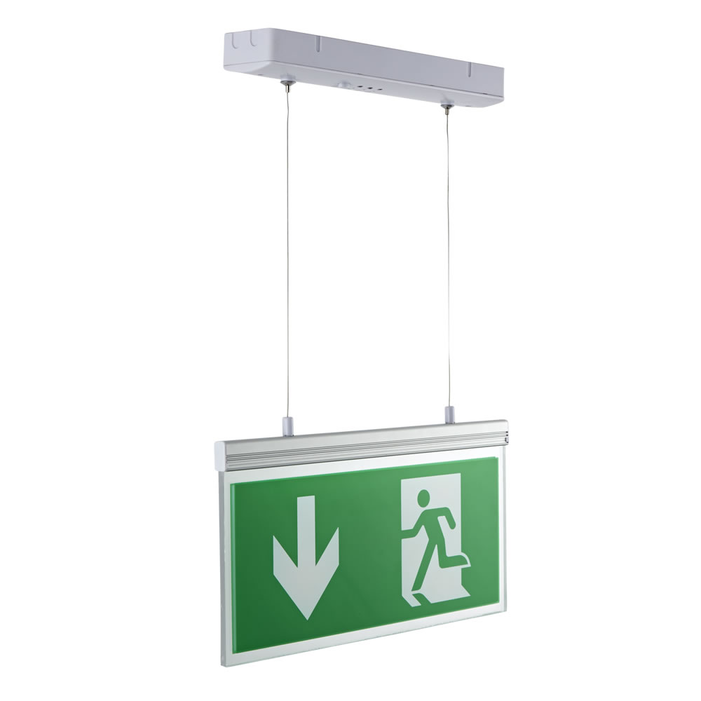 Biard Exit Sign Double Sided Edge Lit 3.1W