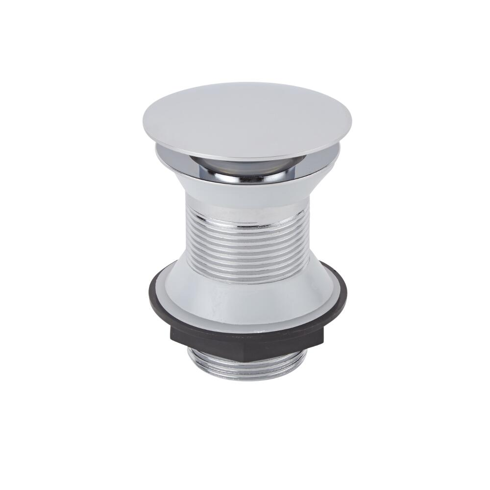 Milano Unslotted Chrome Push Button Basin Waste