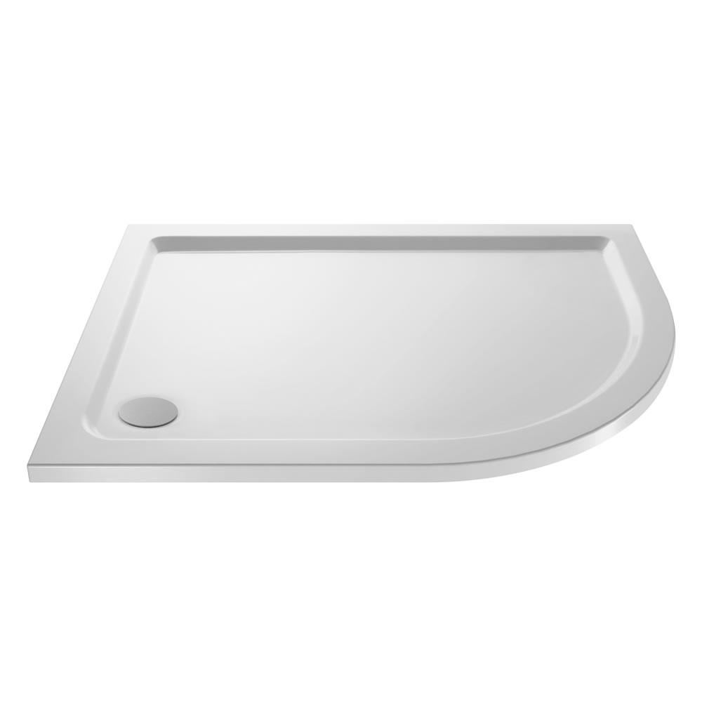 Pearlstone Offset Quadrant shower tray RH 900 x 800mm
