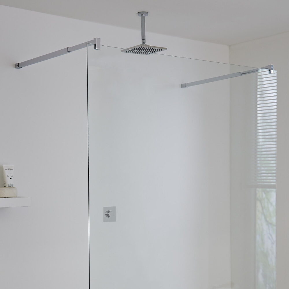 Milano Vis One Outlet Digital Thermostatic Shower with Square Ceiling Mounted Shower Head