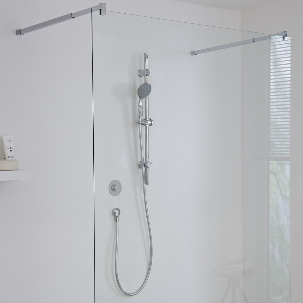 Milano Vis One Outlet Digital Thermostatic Shower with Slide Rail Kit
